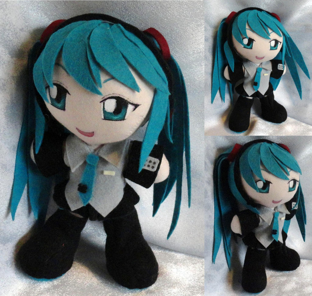 Commission, Mini Plushie Hatsune Miku by ThePlushieLady