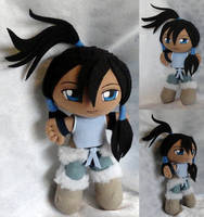 Commission, Mini Plushie Korra by ThePlushieLady
