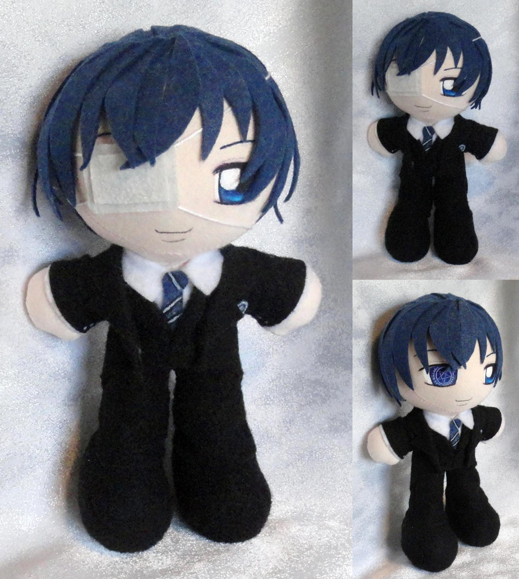 Mini Plushie, Ciel Phantomhive, Weston College by LadyoftheSeireitei