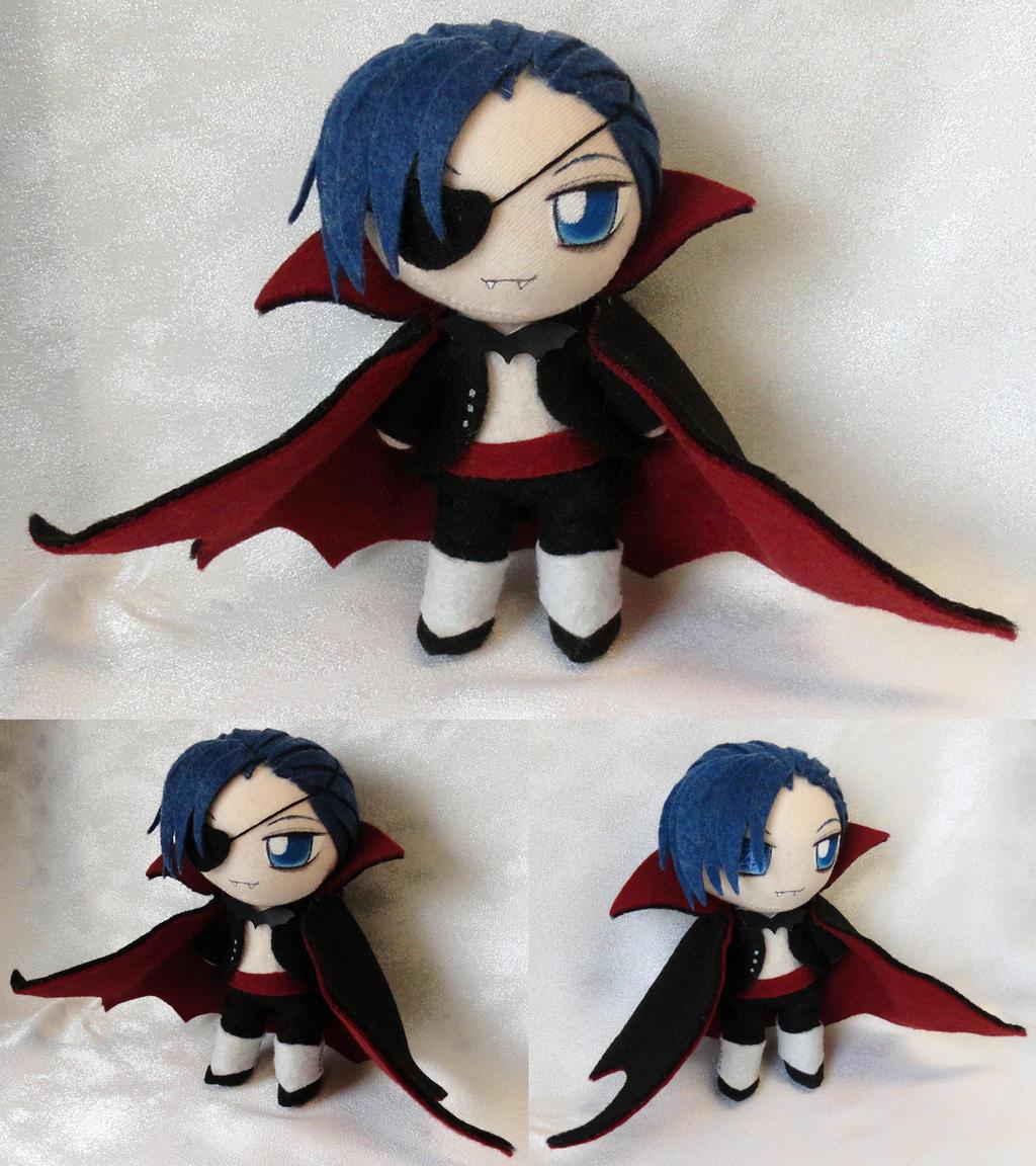 Chibi Plushie, Vampire Ciel Phantomhive by LadyoftheSeireitei