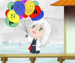 Chibi Birthday Balloons by ThePlushieLady