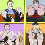Four Ticklish Guys