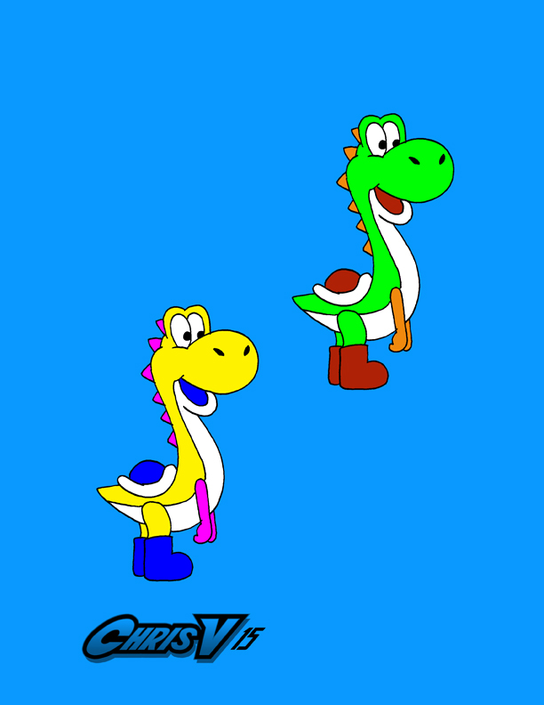 New Yoshi and Tulip by Chris-V981
