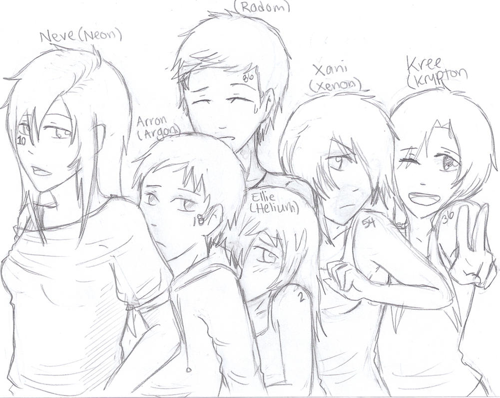 Noble Gas Family by Pencil-Only on DeviantArt