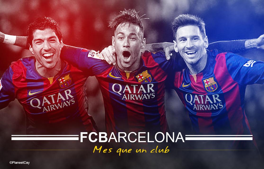 FC Barcelona Suarez Neymar Messi By PlaneetCay