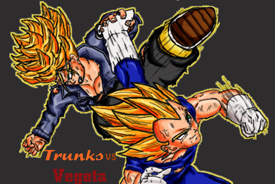 Future Vegeta Future Trunks vs Vegeta by