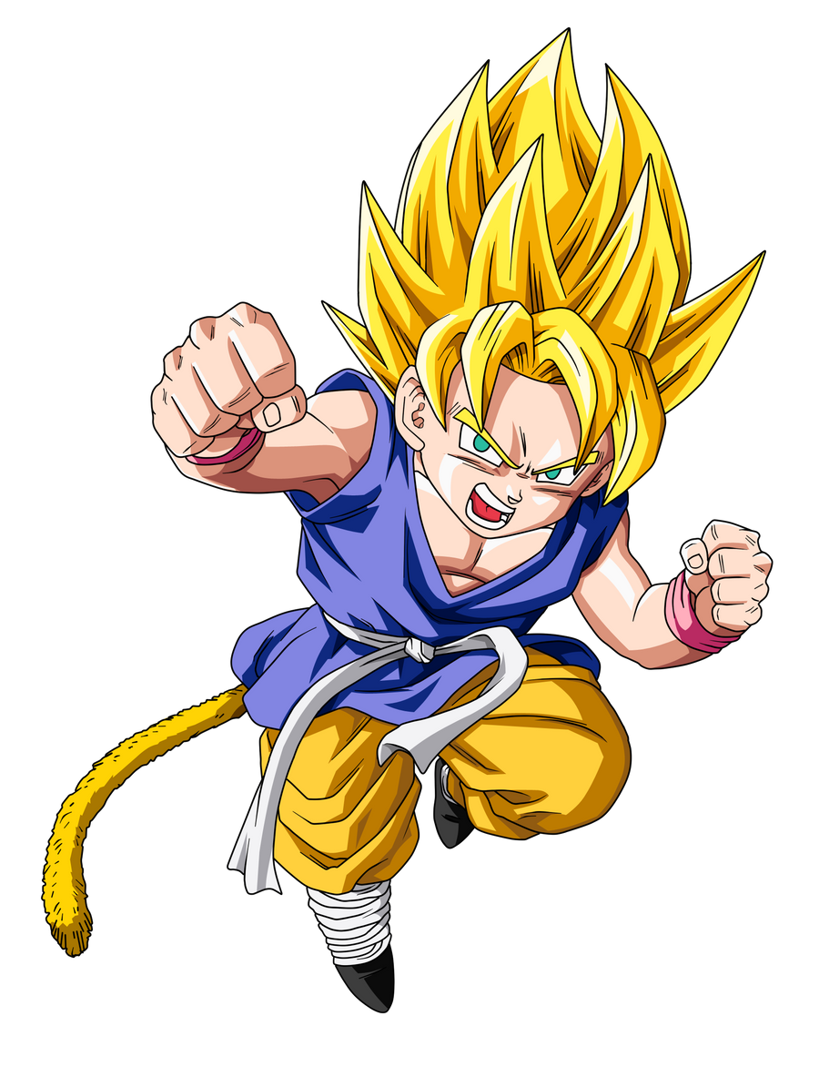 SSJ Kid Goku Update by BoScha196 on DeviantArt