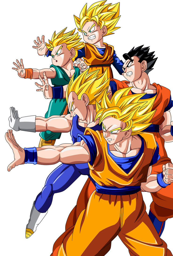 Saiyans Attack Color by BoScha196
