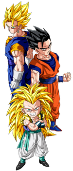 Gotenks, Gohan, and Vegetto