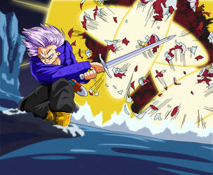 Trunks Destroys Android 14 by BoScha196