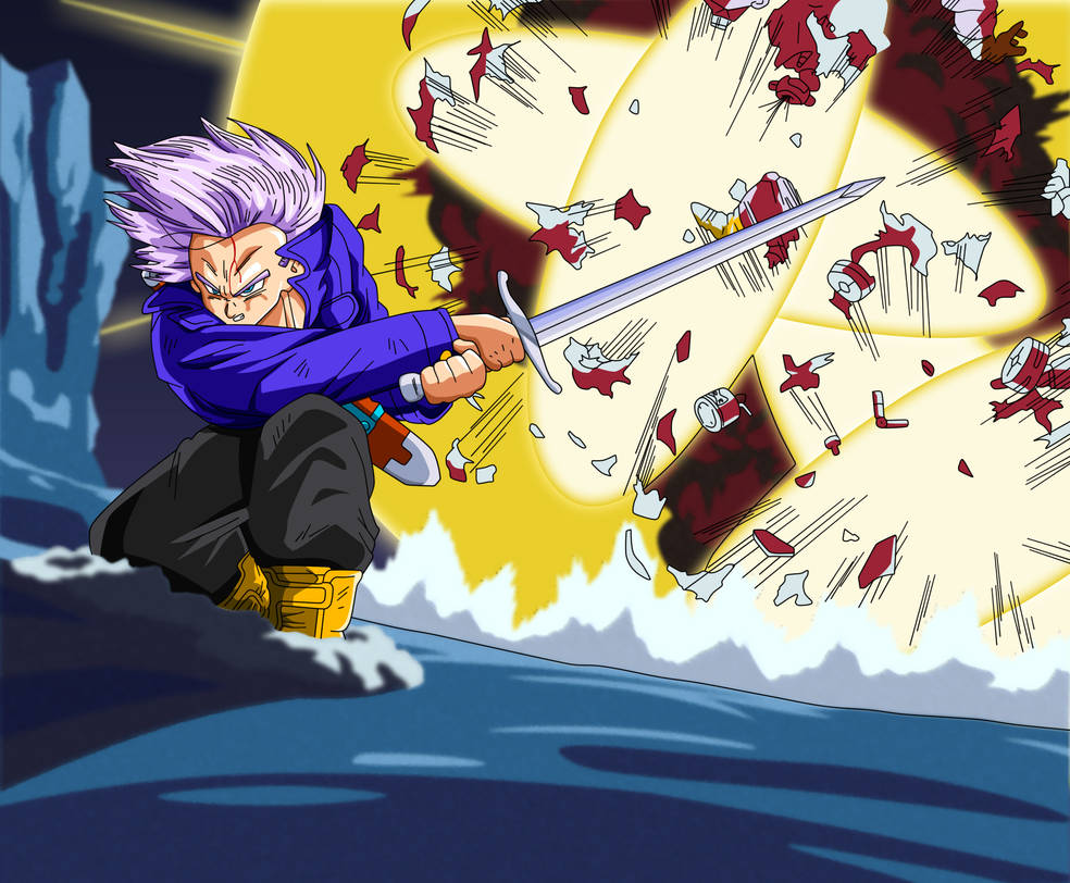 Trunks Destroys Android 14