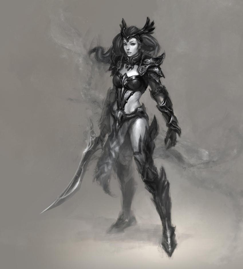 warrior girl by xRompKidx