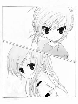 Doujin novel illustration 1