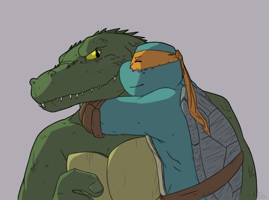 Gator hug by ashitarimai