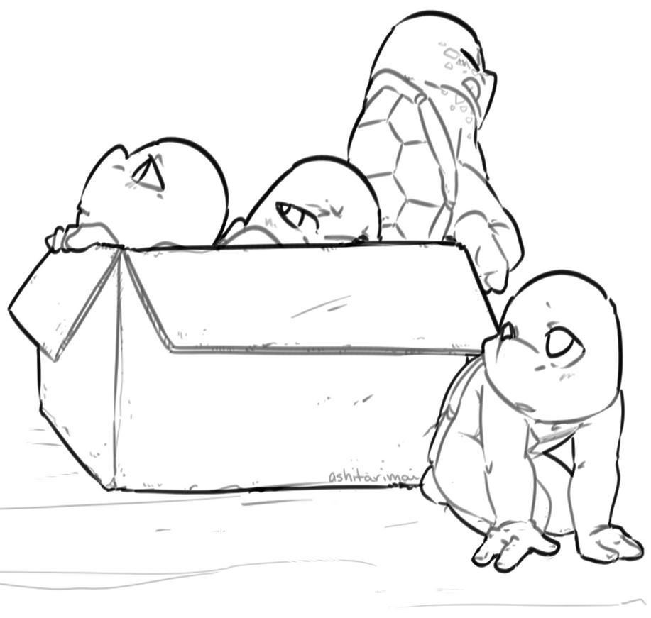 Box turtle lines by ashitarimai