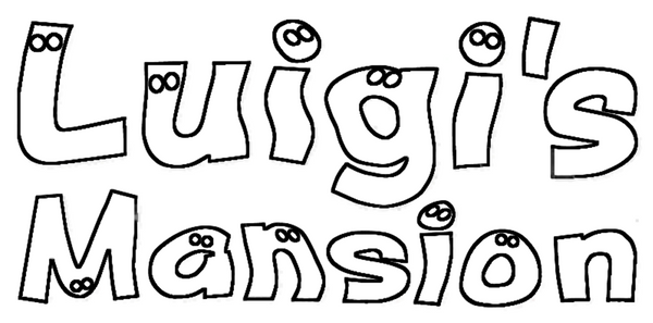 Luigi 39 s mansion logo lineart by skylight1989 on deviantart for Luigi s mansion coloring pages
