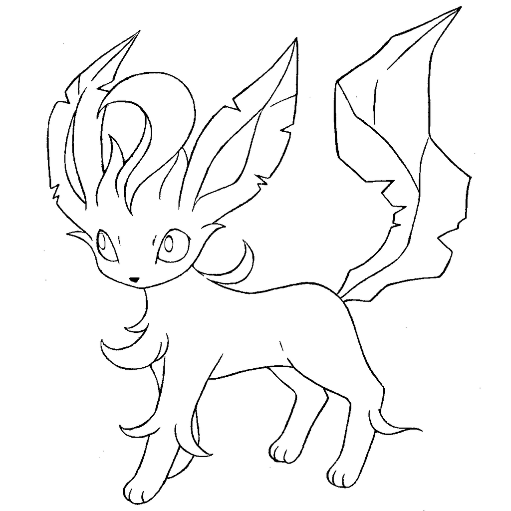 eevee evolutions coloring pages leafeon - photo#4