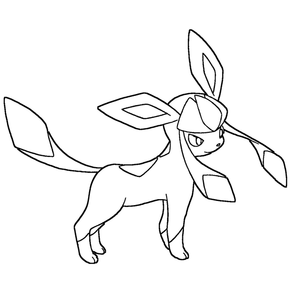 Glaceon - Free Coloring Pages