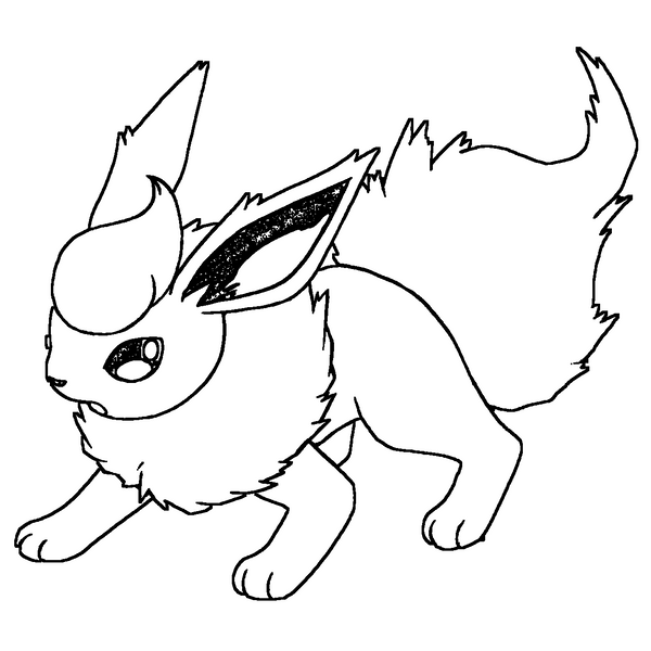 back gt gallery for coloring pages flareon sketch
