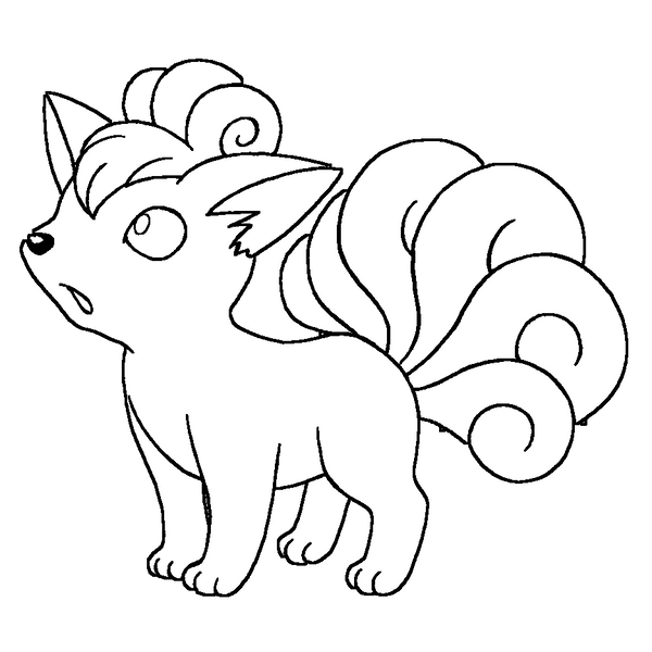 Vulpix Lineart By Skylight1989 On Deviantart