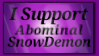 I Support AbominalSnowDemon by shaygoyle