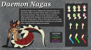 Closed Species: Daemon Nagas (trait sheet) by shaygoyle