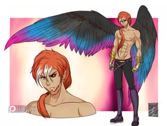 OC: Zaphaneil the Fallen Angel by shaygoyle