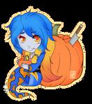 C: Halloween YCH Skulblakasaphira 2 (flat) by shaygoyle