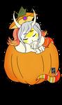 C: Halloween YCH Skulblakasaphira (flat) by shaygoyle