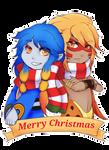 C: Christmas YCH SkulblakaSaphira by shaygoyle