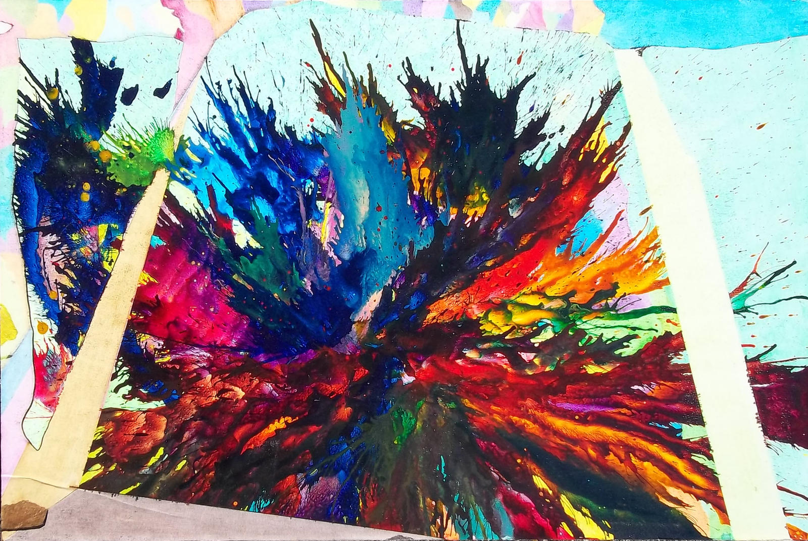 Bliss abstract expressionism splatter painting by for Define mural art