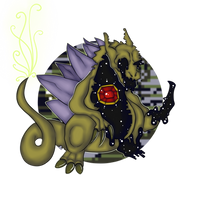 Glitchmons #1: Q (And SuperGlitch) by Corrupted-Hex
