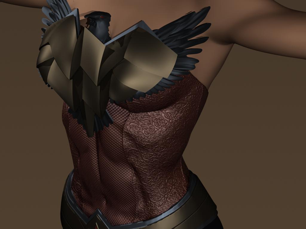 Wonder Woman WIP on deviantART - unfinished 3D digital character design