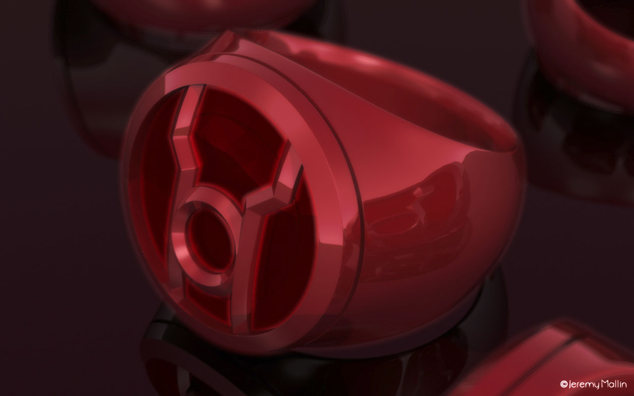Red Lantern Ring by JeremyMallin