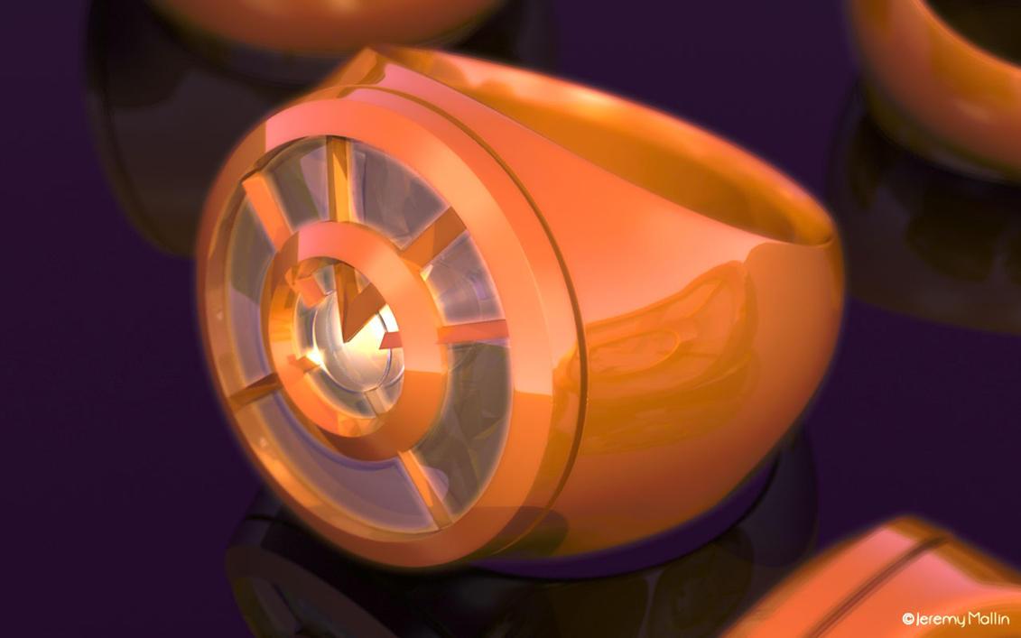 Orange Lantern Ring Bulk Bag
