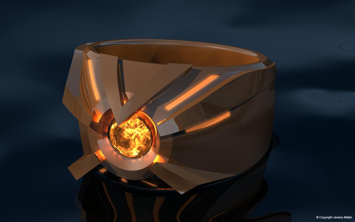 Orange Lantern Power Ring by JeremyMallin