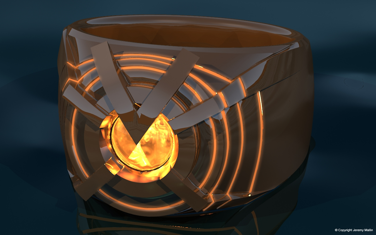 Orange Lantern Power Ring by JeremyMallin