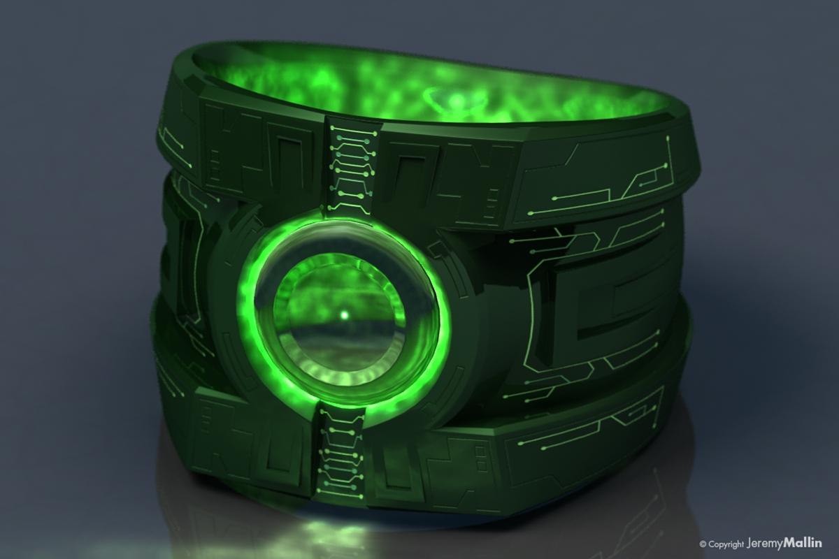 Green Lantern Ring Power Ring by J...