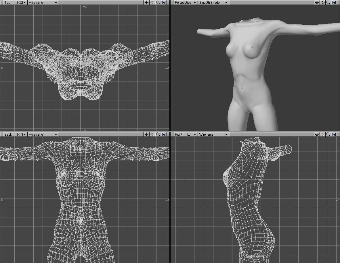 Unfinished Torso on deviantART - partial 3D digital character design.