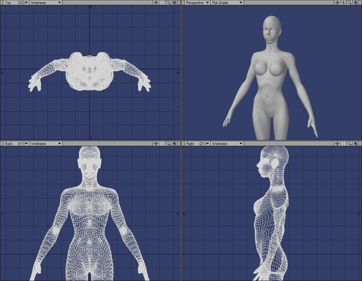 Unfinished Figure on deviantART - unfinished 3D digital character design.