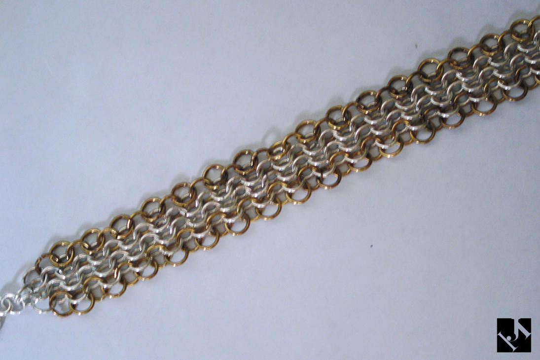 Gold Mail: Silver And Gold Mail Bracelet By JeremyMallin On DeviantArt