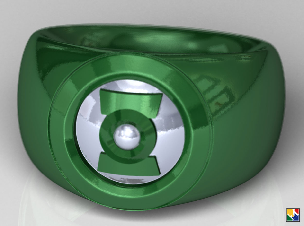 Green Lantern Ring CAD Files by JeremyMallin