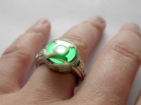 Working LED Green Lantern Power Ring