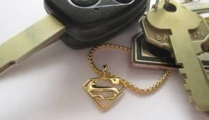 Mini Superman Precious Metal Charm Pendant by JeremyMallin