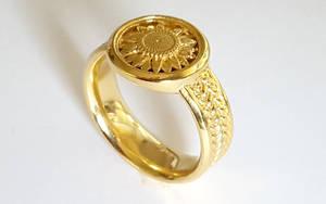 Sunflower Signet Ring