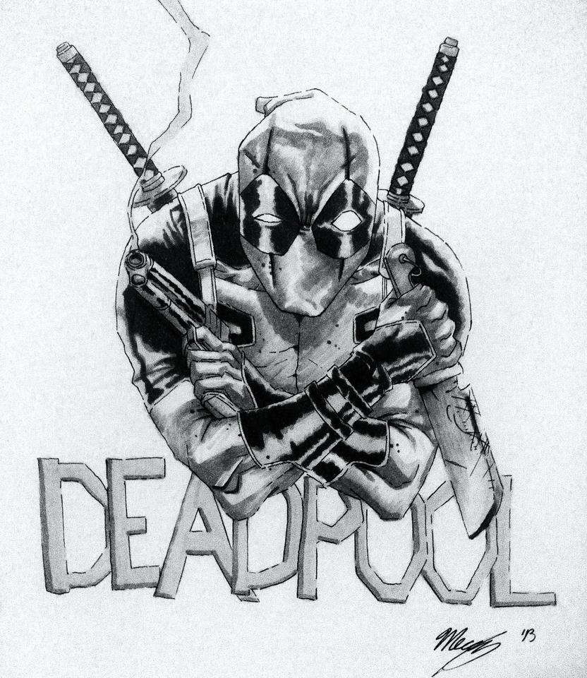 Deadpool Sketch By MercyAlters On DeviantArt