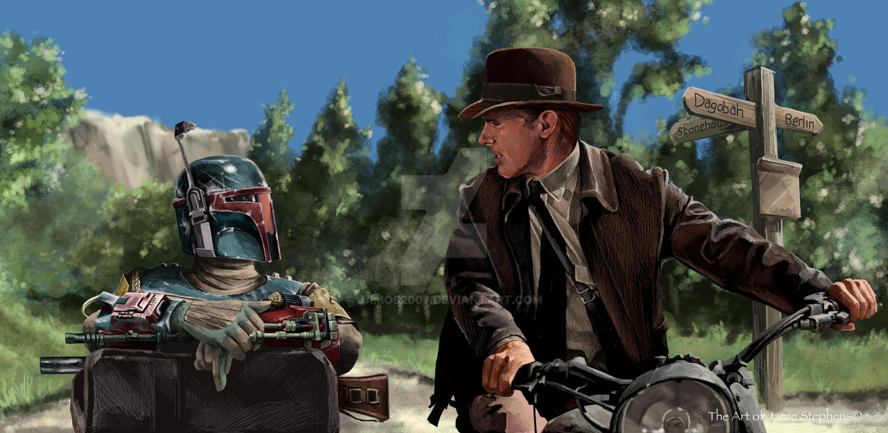 Indiana Jones and Boba Fett by Jamos2007