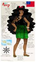 APH Samoa OC by SaMelodii