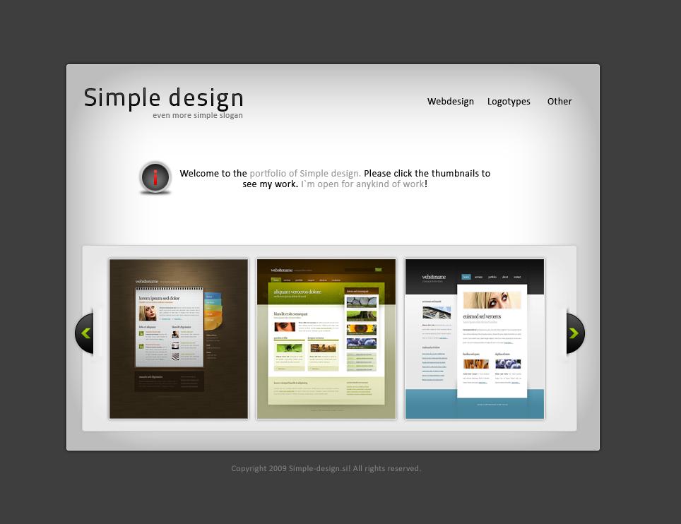 simple portfolio design by imattdev on deviantart
