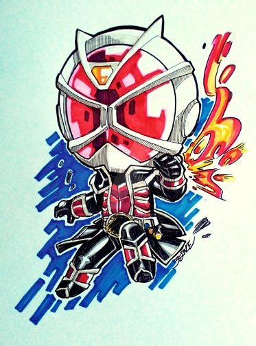 Kamen Rider Wizard: Flame Wizard by bernce